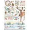 Papír rýžový A4 Winter Tales, vánoční hvězda