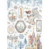 Papír rýžový A4 Winter Tales, zámek