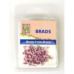 Brads 3mm, 40ks - pink (Nellie´s Choice)