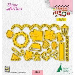 Vyřezávací šablony - malé vánoční motivy 2 (Nellie´s Choice)