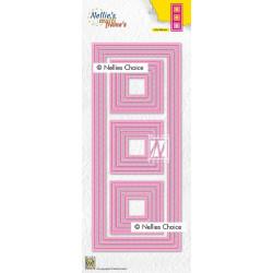 Vyřezávací šablony -Tenké linie, čtverce (Nellie´s Choice)