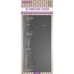 Embossovací kapsa 3D - Tenké linie, zasněžená krajina (Nellie´s Choice)