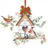 Vánoční ptačí budka 33x33