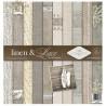 Sada papírů 31x32cm - Lněné plátno & krajka (ITD)