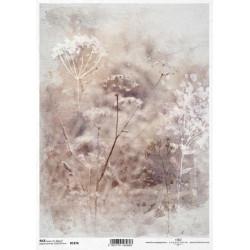 Papír rýžový A4 Luční květy akvarel I.