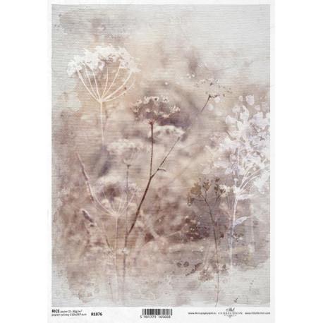 Papír rýžový A4 Luční květy I.