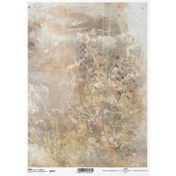 Papír rýžový A4 Luční květy akvarel II.