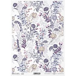 Papír rýžový A4 Tapetový motiv s lučními květy