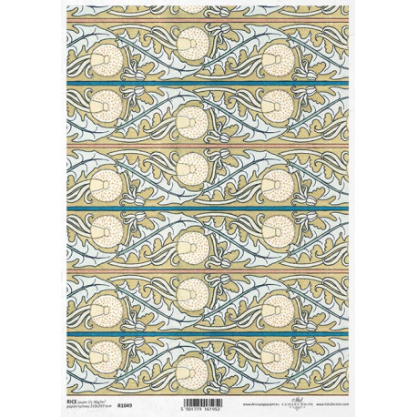 Papír rýžový A4 Art Deco, tapetový vzor pampeliška