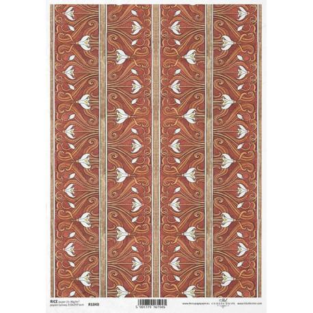 Papír rýžový A4 Art Deco, tapetový vzor sněženka