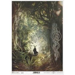 Papír rýžový A4 Magický svět, keltský kněz