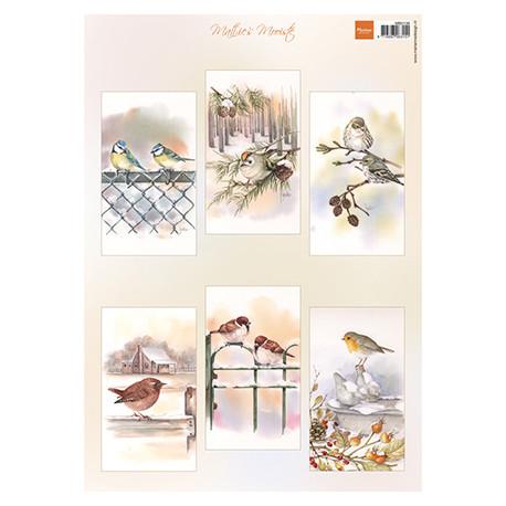 Papír A4 Mattie's mooiste Slimline birds (MD)