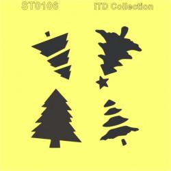 Šablona ITD - Vánoční stromy 3D 16x16