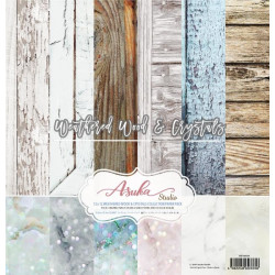 Sada papírů 30,5x30,5 Weathered Wood & Crystals (Asuka Studio)