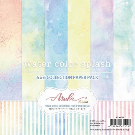 Sada papírů 15,2x15,2 Watercolor Splas (Asuka Studio)