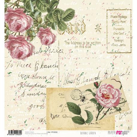 Papír rýžový 30x32 Botanická zahrada, dopis