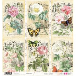 Papír rýžový 30x32 Botanická zahrada, kartičky