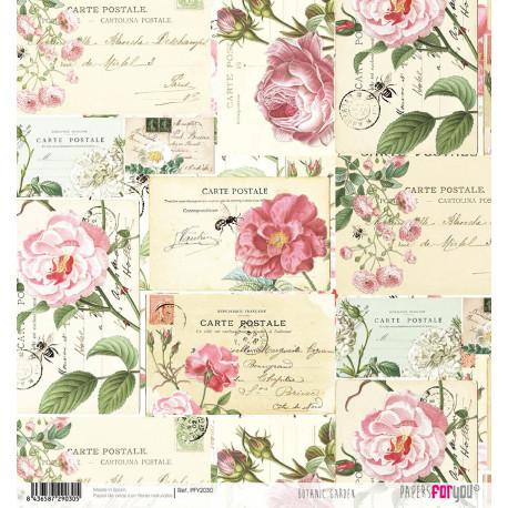 Papír rýžový 30x32 Botanická zahrada, pohlednice
