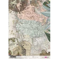 Papír rýžový A4 Historická mapa