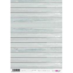 Papír rýžový A4 Dřevěná prkna světle modrá