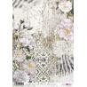 Papír rýžový A4 Květy na pozadí zebra