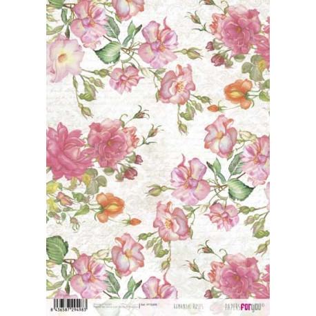 Papír rýžový A4 Romantické růže