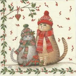 Vánoční kočky 33x33