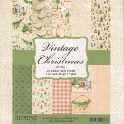 Sada papírů 15x15 170g Vintage Christmas (REPRINT)
