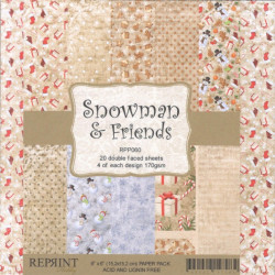Sada papírů 15x15 170g Snowman & Friends (REPRINT)