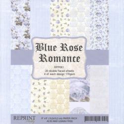 Sada papírů 15x15 170g Blue Rose Romance (REPRINT)
