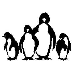 Enkaustické razítko Tučňáčci