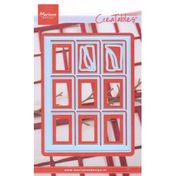Vyřezávací šablony - Zasněžené okno (MD)