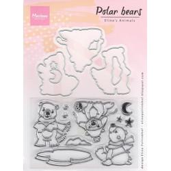 Vyřezávací šablony a razítka - Polární medvědi (MD)
