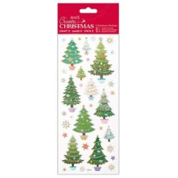 Samolepky Vánoční stromky