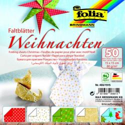 Origami papírky 15x15 Vánoce