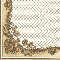 Zlatá síť a ozdobný roh 33x33