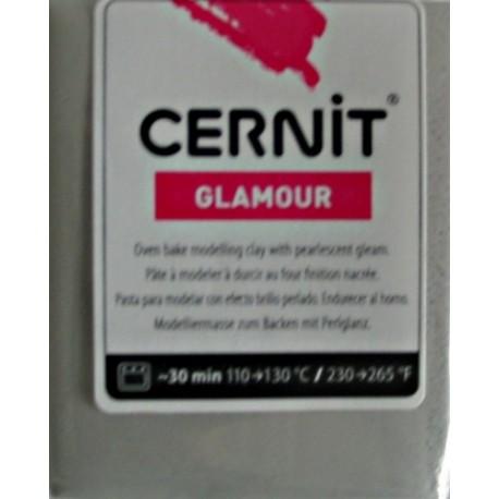 Cernit 56g - třpytivá stříbrná