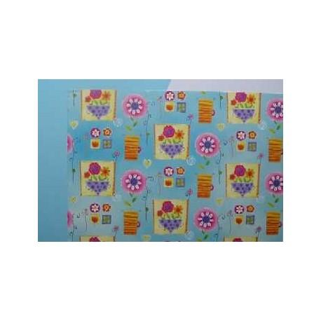 Karton 220g A4 s motivem květů