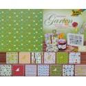 Blok vzorovaných papírů 26 listů - Garten (F)
