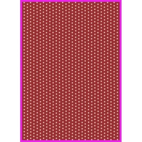 Pergamen hvězdičky - červená, 150g A4
