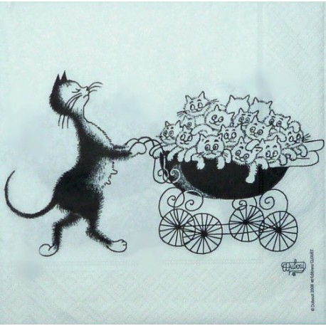 Kočka s kočárkem 33x33