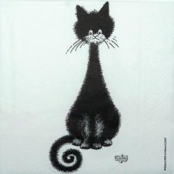 Kočka černá 33x33