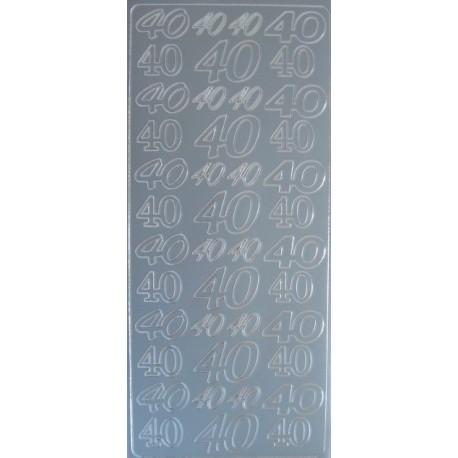 """Kontury """"40"""" stříbrné"""