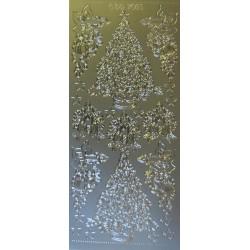 Kontury Vánoce stříbrné