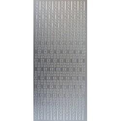Kontury Bordura hvězdičky stříbrné