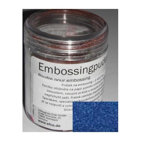 Prášek na embossing 10g supertřpytivý modrý