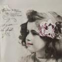 Dívka s růží 33x33