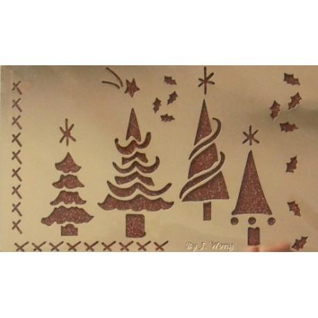 Kovová šablona vánoční stromky