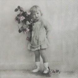 Děvčátko s kyticí 33x33