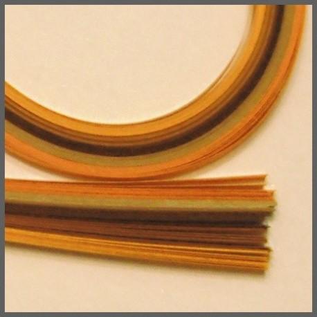 Set barevných proužků - oranžovohnědý